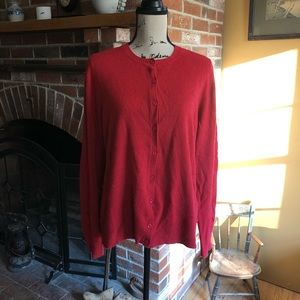 Croft & barrow red cardigan